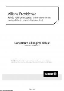 Allianz - Allianz Previdenza Fondo Pensione Aperto Documento Sul Regime Fiscale - Modello nd Edizione 29-03-2018 [8P]