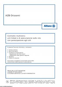 Allianz - Azb Orizzonti - Modello 8027 Edizione 05-2014 [68P]