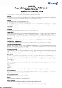 Allianz - Bmw 10718 Take Care - Modello ad180 Edizione 01-10-2015 [17P]