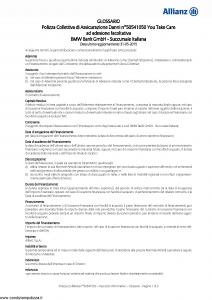 Allianz - Bmw 50541050 You Take Care - Modello ad180 Edizione 31-05-2015 [20P]