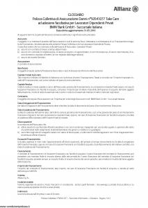 Allianz - Bmw 50541077 Take Care - Modello ad180 Edizione 31-05-2016 [19P]