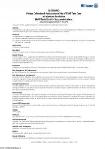 Allianz - Bmw 9343 Take Care - Modello ad180 Edizione 31-05-2015 [17P]