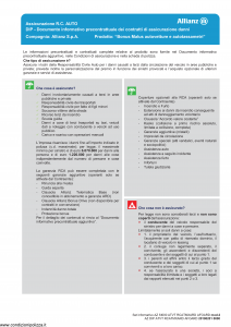 Allianz - Bonus Malus Autovetture E Autotassametri - Modello az-s1000-atvt-rcatmxard-afoard-mod2 Edizione 01-01-2019 [68P]