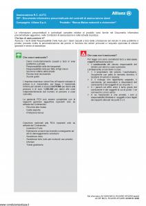 Allianz - Bonus Malus Motocicli E Ciclomotori Az S1000 Mccl Rcaard Afoard Mod.2 - Modello az-cga-tu32-az1 Edizione 01-01-2019 [44P]