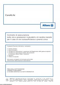 Allianz - Care4Life - Modello 8016 Edizione 05-2013 [60P]