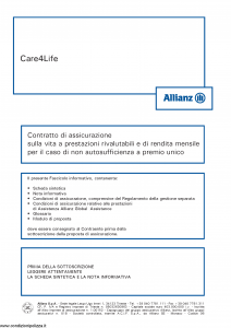 Allianz - Care4Life - Modello 8016 Edizione 05-2014 [60P]