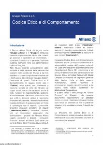 Allianz - Codice Etico E Di Comportamento - Modello nd Edizione nd [12P]
