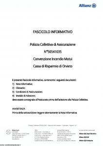 Allianz - Convenzione Incendio Mutui - Modello 50541035 Edizione 31-05-2011 [11P]