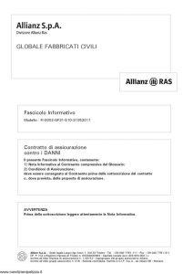 Allianz - Globale Fabbricati Civili - Modello FI-0002-GF31-510 Edizione 31-05-2011 [30P]