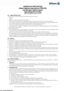 Allianz - Incendio Mutui Capitale Costante - Modello 50541035 Edizione 01-05-2013 [10P]