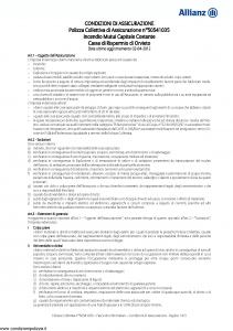 Allianz - Incendio Mutui Capitale Costante - Modello 50541035 Edizione 02-04-2012 [10P]