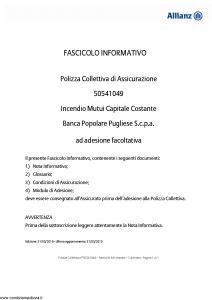 Allianz - Incendio Mutui Capitale Costante - Modello 50541049 Edizione 31-05-2015 [14P]