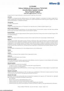 Allianz - Incendio Mutui Capitale Costante - Modello 50541049 Edizione 31-05-2016 [14P]