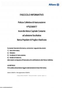 Allianz - Incendio Mutui Capitale Costante - Modello 62590977 Edizione 31-05-2014 [10P]