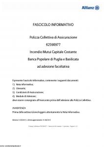Allianz - Incendio Mutui Capitale Costante - Modello 62590977 Edizione 31-05-2015 [12P]