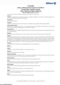 Allianz - Incendio Mutui Capitale Costante - Modello 62590977 Edizione 31-05-2016 [12P]
