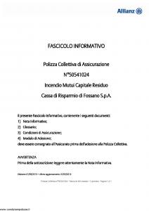 Allianz - Incendio Mutui Capitale Residuo - Modello 50541024 Edizione 01-05-2013 [10P]