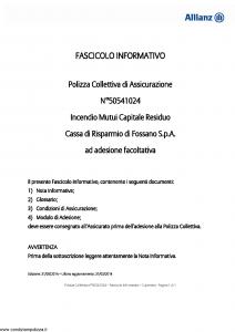 Allianz - Incendio Mutui Capitale Residuo - Modello 50541024 Edizione 31-05-2014 [10P]