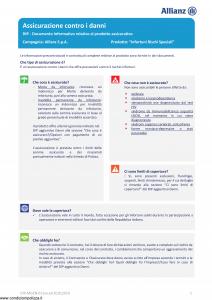 Allianz - Infortuni Rischi Speciali - Modello dip-mgen-011xx Edizione 01-01-2019 [30P]