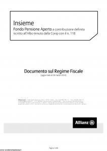 Allianz - Insieme Fondo Pensione Aperto Nota Documento Sul Regime Fiscale - Modello nd Edizione 29-03-2018 [8P]