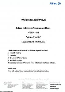 Allianz - Mutuo Protetto - Modello 50541038 Edizione 31-05-2011 [20P]