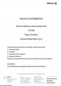 Allianz - Mutuo Protetto - Modello 9188 Edizione 01-12-2010 [10P]