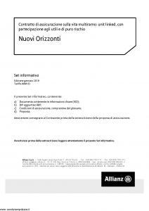 Allianz - Nuovi Orizzonti - Modello 88m-03 Edizione 01-01-2019 [66P]