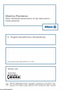 Allianz - Obiettivo Previdenza Progetto Esemplificativo Standardizzato - Modello rv8001 Edizione 01-2013 [8P]