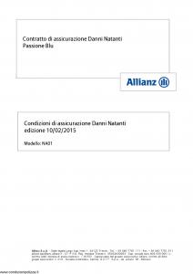 Allianz - Passione Blu - Modello na01 Edizione 10-02-2015 [38P]