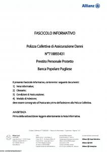 Allianz - Prestito Personale Protetto - Modello 718893431 Edizione 31-05-2011 [9P]