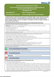 Allianz - Protegge A Capitale Decrescente - Modello 8014 Edizione 01-2019 [32P]
