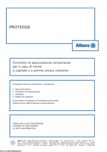 Allianz - Protegge - Modello 8012 Edizione 01-2013 [34P]