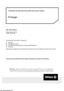 Allianz - Protegge - Modello 8014 Edizione 01-2019 [36P]