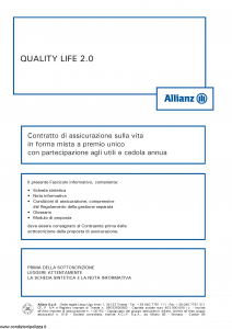 Allianz - Quality Life 2.0 - Modello 8008 Edizione 01-2013 [44P]