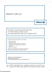 Allianz - Quality Life 2.0 - Modello 8008 Edizione 05-2013 [44P]