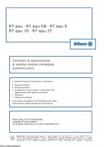 Allianz - R7 Ipsu - Modello 8010 Edizione 05-2013 [44P]
