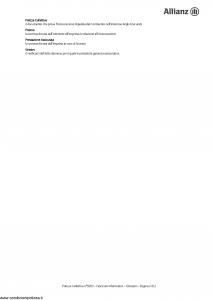 Allianz - Take Care Bmw Financial Services Fascicolo Informativo Polizza Collettiva Assicurazione Vita - Modello 9203 Edizione 01-04-2011 [18P]