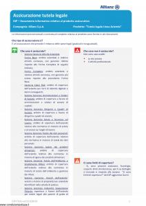 Allianz - Tutela Legale Linea Azienda - Modello dip-tu41 Edizione 01-01-2019 [34P]