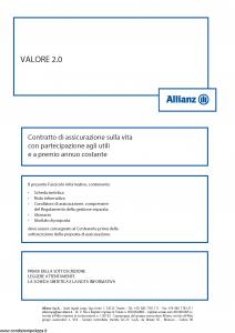 Allianz - Valore 2.0 Costante - Modello 8003 Edizione 01-2016 [54P]