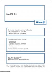 Allianz - Valore 2.0 Costante - Modello 8003 Edizione 05-2014 [56P]