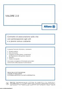 Allianz - Valore 2.0 Costante - Modello 8003 Edizione 05-2015 [56P]