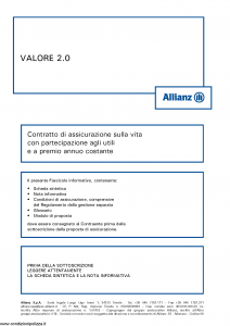 Allianz - Valore 2.0 Costante - Modello 8003 Edizione 05-2016 [54P]