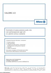 Allianz - Valore 2.0 Costante - Modello 8003 Edizione 09-2016 [54P]