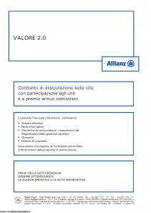 Allianz - Valore 2.0 Indicizzato - Modello 8004 Edizione 05-2015 [55P]