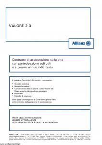 Allianz - Valore 2.0 Indicizzato - Modello 8009 Edizione 05-2016 [52P]