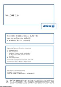 Allianz - Valore 2.0 - Modello 8003 Edizione 01-2013 [56P]