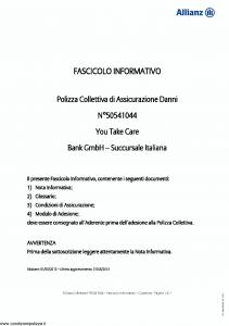 Allianz - You Take Care - Modello 50541044 Edizione 01-05-2013 [19P]