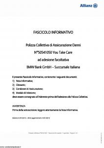 Allianz - You Take Care - Modello 50541050 Edizione 01-01-2015 [20P]