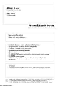 Allianz Lloyd Adriatico - I Miei Affetti Tariffa 20Ep01 - Modello 7386 Edizione 12-2011 [54P]