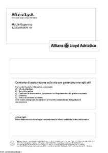 Allianz Lloyd Adriatico - Mylife Risparmio Tariffa 03Ur09-10 - Modello vi016-11 Edizione 31-12-2011 [34P]